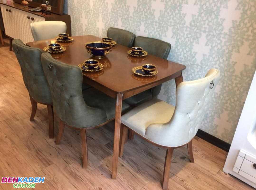 Chester sofa and dining table set min - میز نهار خوری چستر