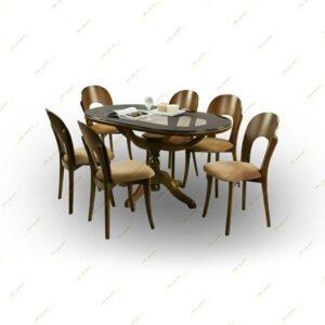 میز ناهار خوری پانه (نعل اسبی )