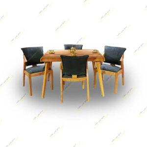 میز ناهار خوری پارادایس با صندلی پیچک