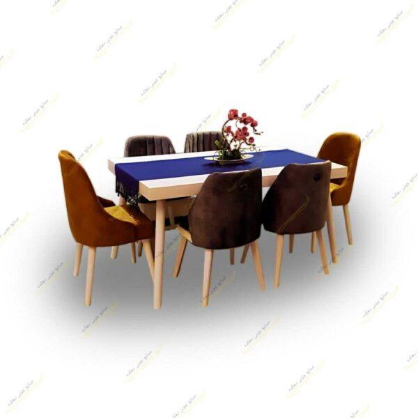 میز ناهار خوری ونیز با صندلی لاکچری و صندلی الماس