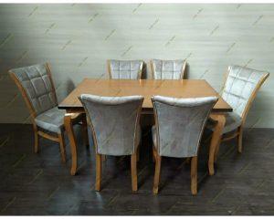 میز ناهار خوری مدل میز سم اهویی با صندلی سون