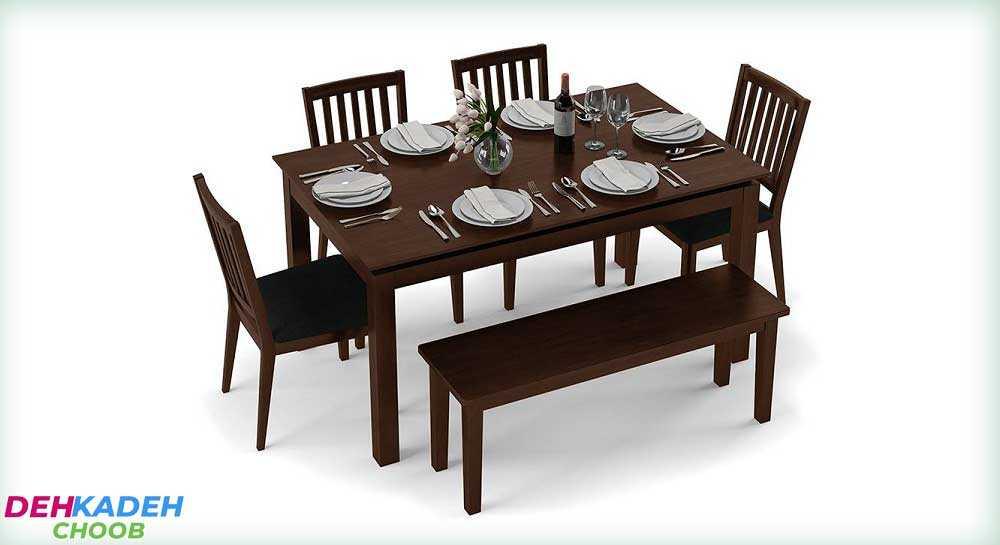 Dining table for 6 people with a bench - نکات و راهنمای خرید میز ناهار خوری