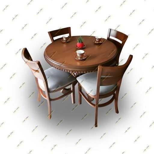 میز نهار خوری گرد با صندلی آمریکایی