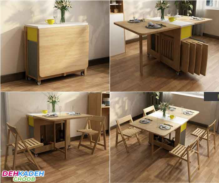 Small folding dining table - میز ناهار خوری کوچک – میز ناهار خوری کم جا – میز ناهار خوری نقلی
