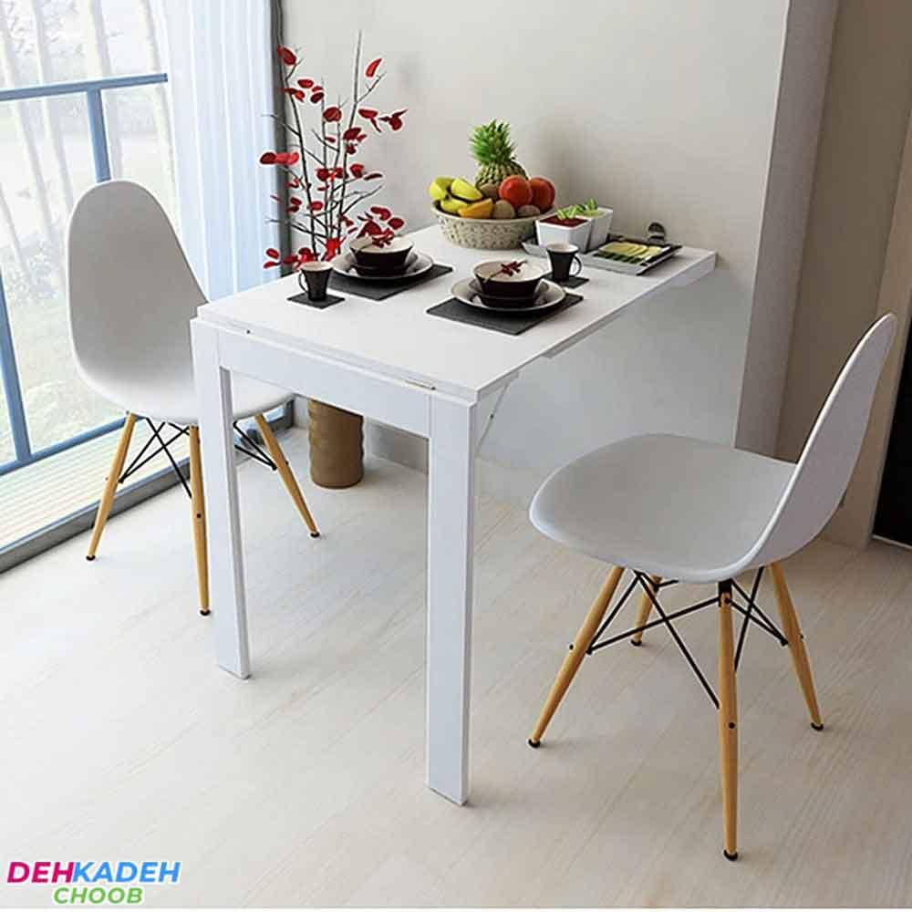 Small wall dining table - میز ناهار خوری کوچک – میز ناهار خوری کم جا – میز ناهار خوری نقلی
