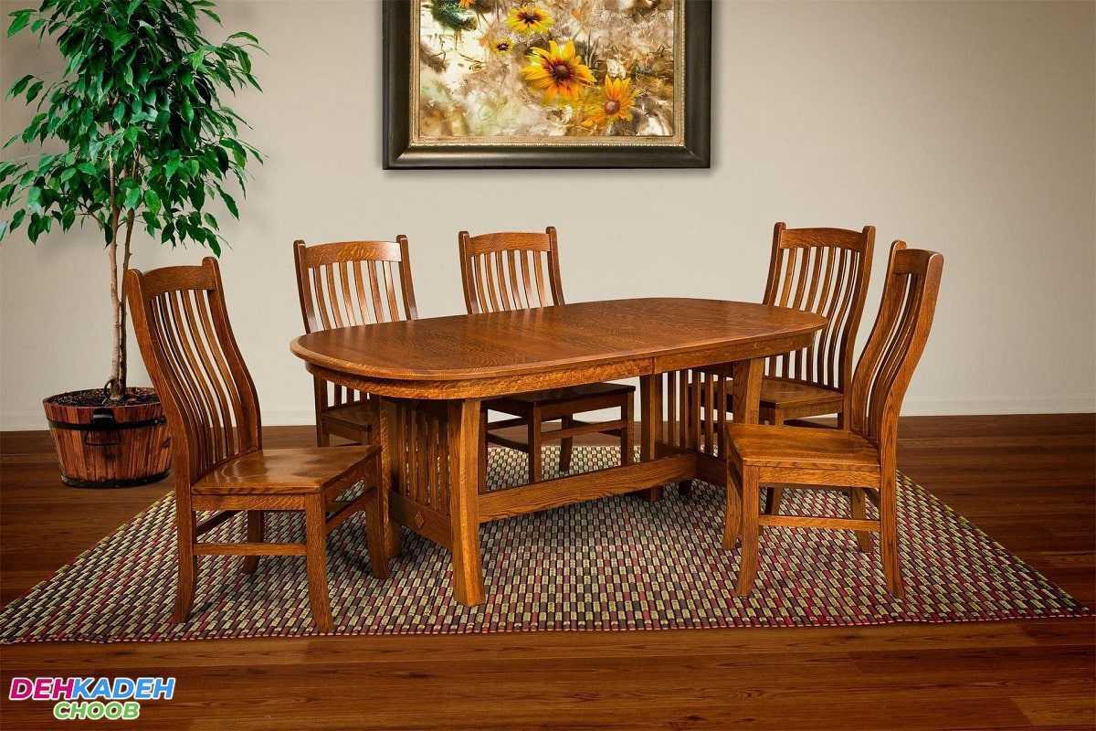 Wooden sofa and dining table min - صنایع چوبی آنلاین