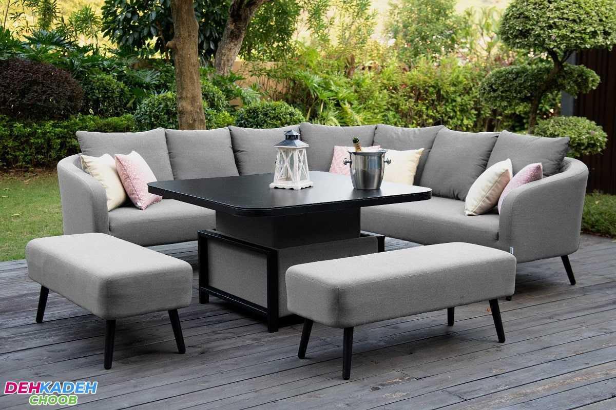 It is a sofa and a dining table 2 min - مبل و میز ناهارخوری ست