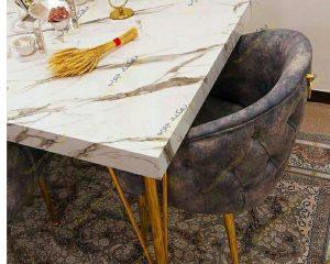 میز ناهار خوری چستر پایه فلز