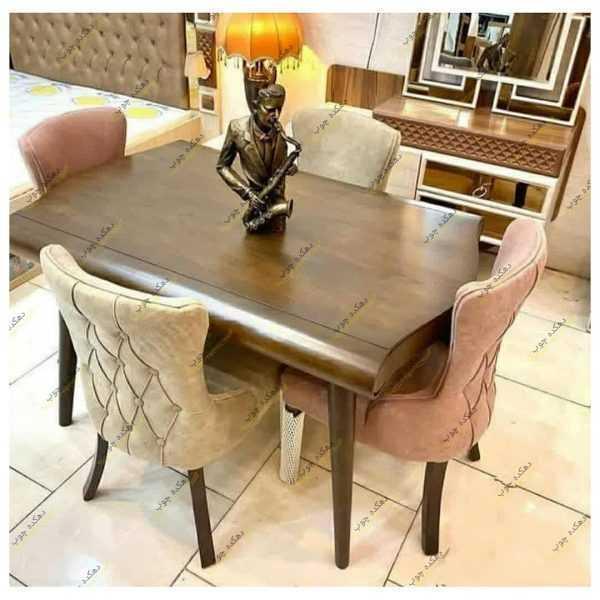 میز ناهار خوری کشو دار با صندلی چستر