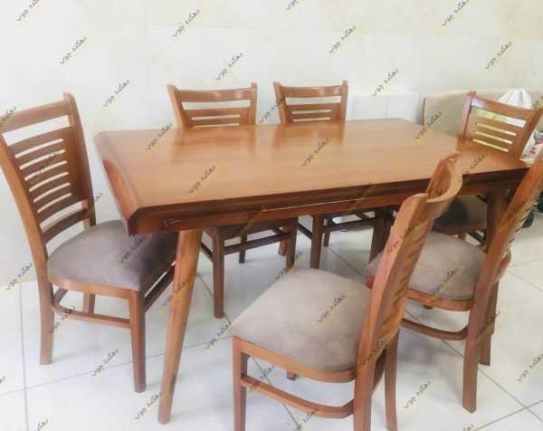 Photo 1622804270255 600x476 - میز ناهار خوری چوبی مدل شکوفه
