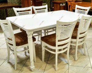Photo 1622804270867 300x240 - میز ناهار خوری چوبی مدل شکوفه