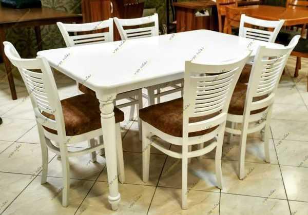 Photo 1622804270867 600x419 - میز ناهار خوری چوبی مدل شکوفه