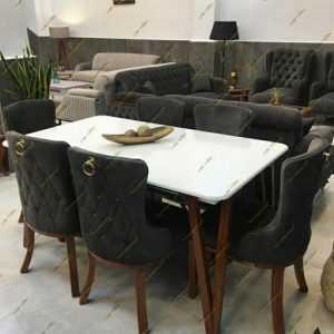 میز ناهار خوری مدل لاله با صندلی چستر