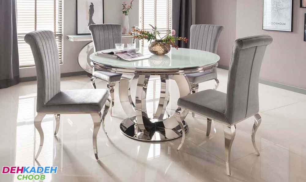 New metal dining table - نکات و راهنمای خرید میز ناهار خوری