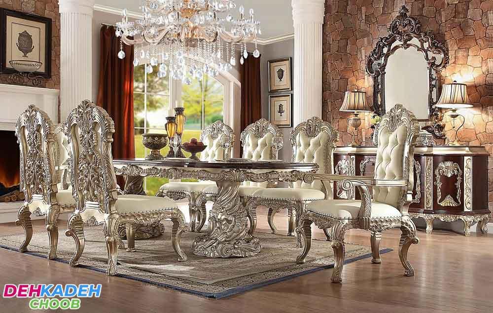 میز و صندلی ناهارخوری سلطنتی