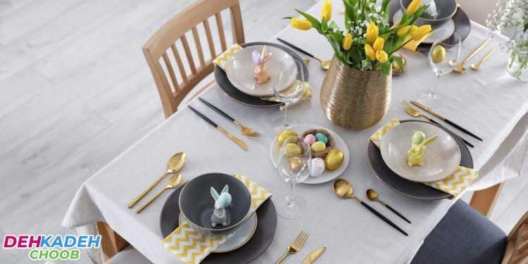 Decorate the dining table - تزیین میز ناهار خوری