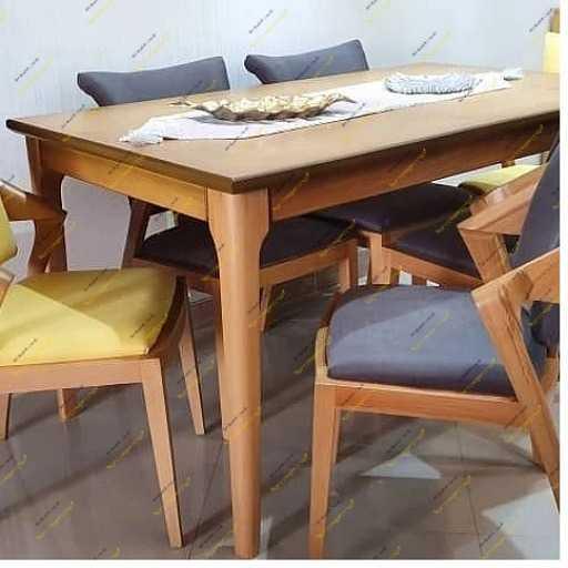 میز نماهار خوری مدل لوکاس با صندلی پیچک