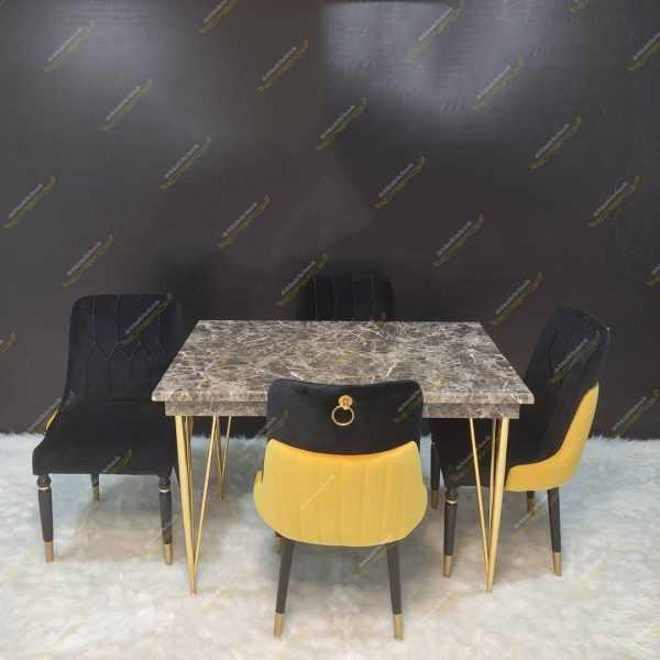 میز ناهار خوری فلزی