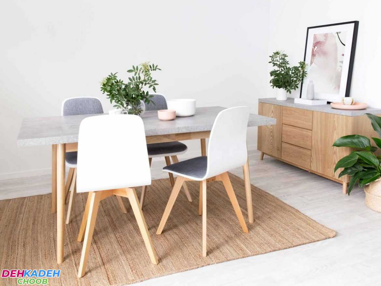 Simple and beautiful dining table decoration - تزیین میز ناهار خوری